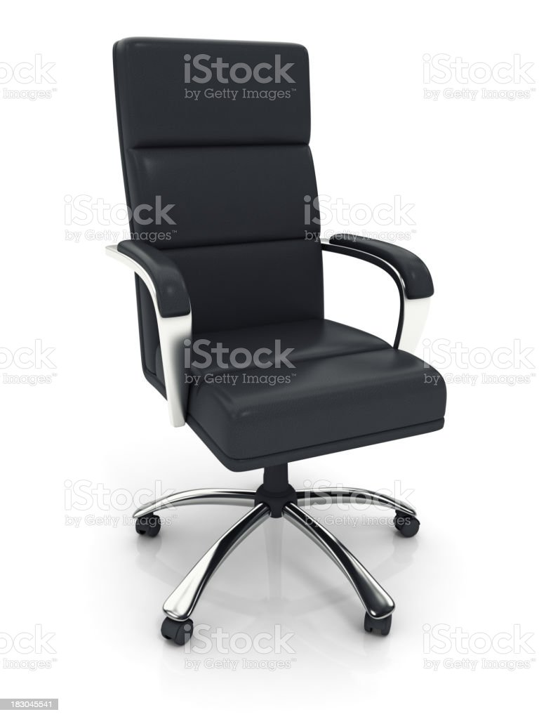 Executive Office Chair with Clipping Path royalty-free stock photo