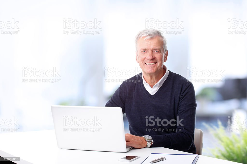 Executive officer portrait stock photo