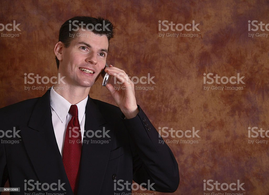 Executive On Cel Phone stock photo