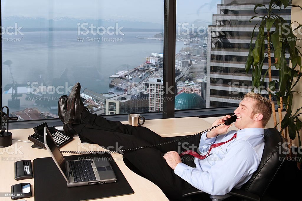 Executive on the Phone royalty-free stock photo