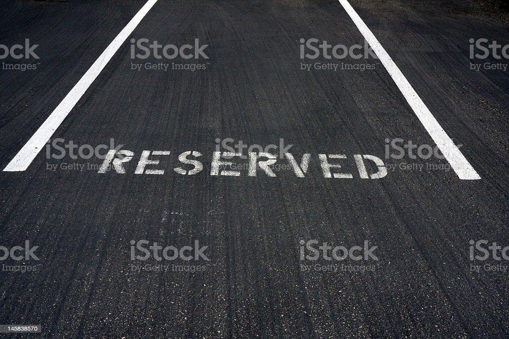 Executive Parking Place stock photo