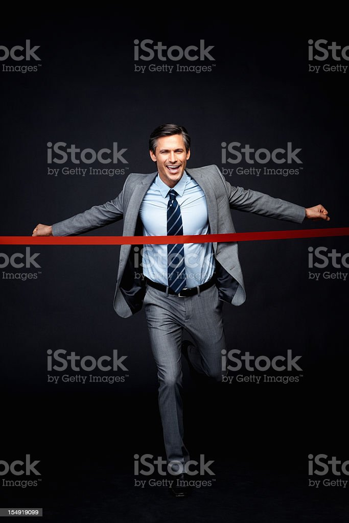 Executive reaching goal royalty-free stock photo