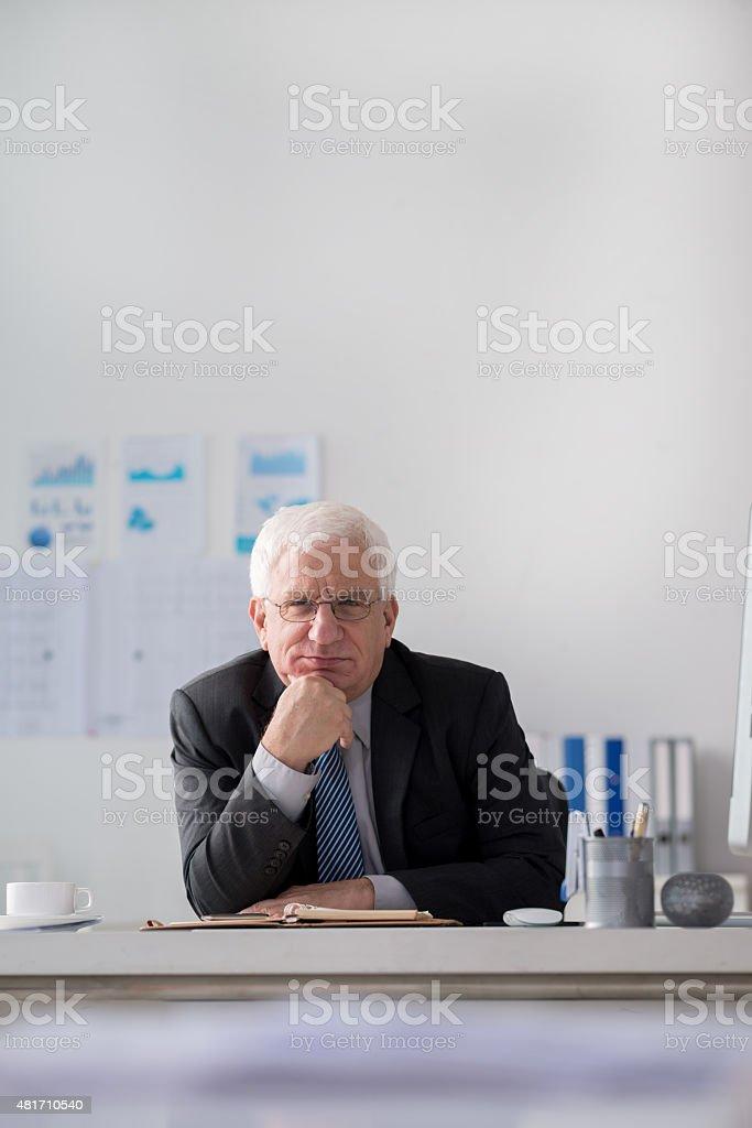 Executive senior businessman stock photo
