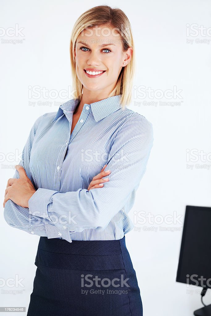 Executive smiling with confidence stock photo