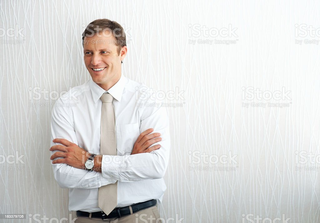 Executive taking a break from business royalty-free stock photo