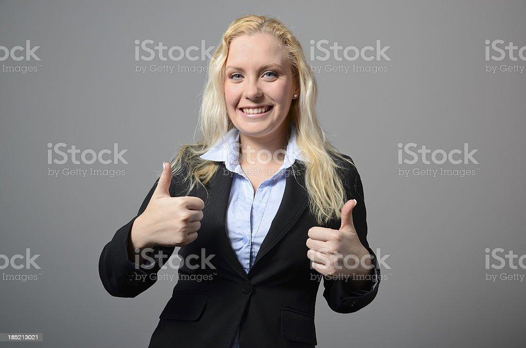 Executive thumbs up royalty-free stock photo