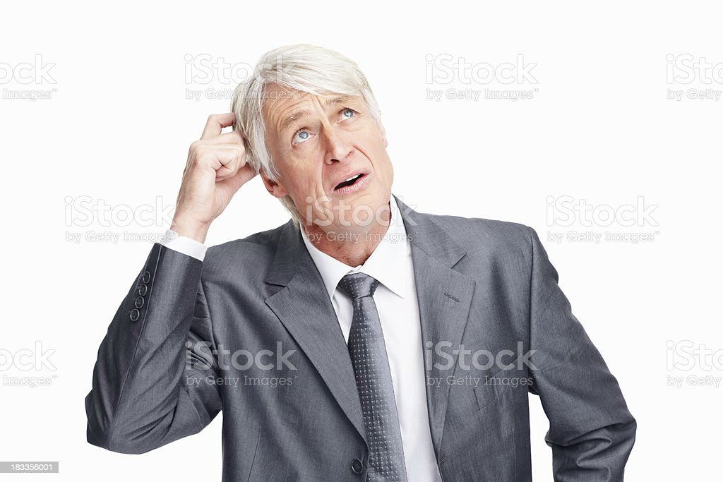 Executive trying to make a decision royalty-free stock photo
