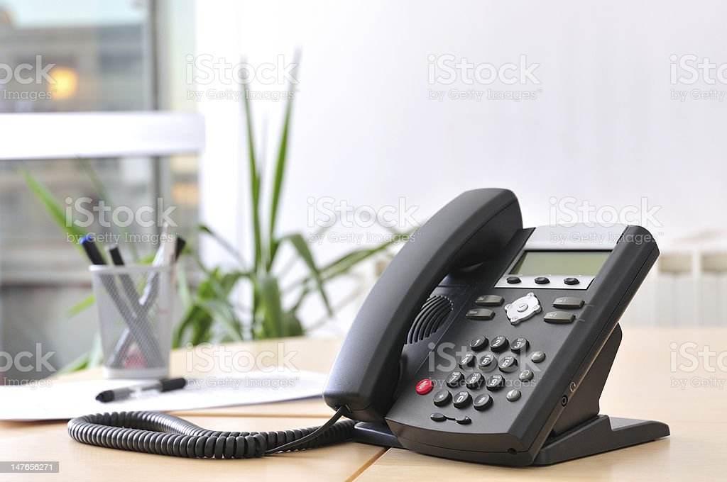 Executive VoIP Phone stock photo