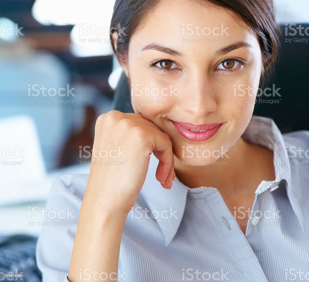 Executive with beautiful smile stock photo