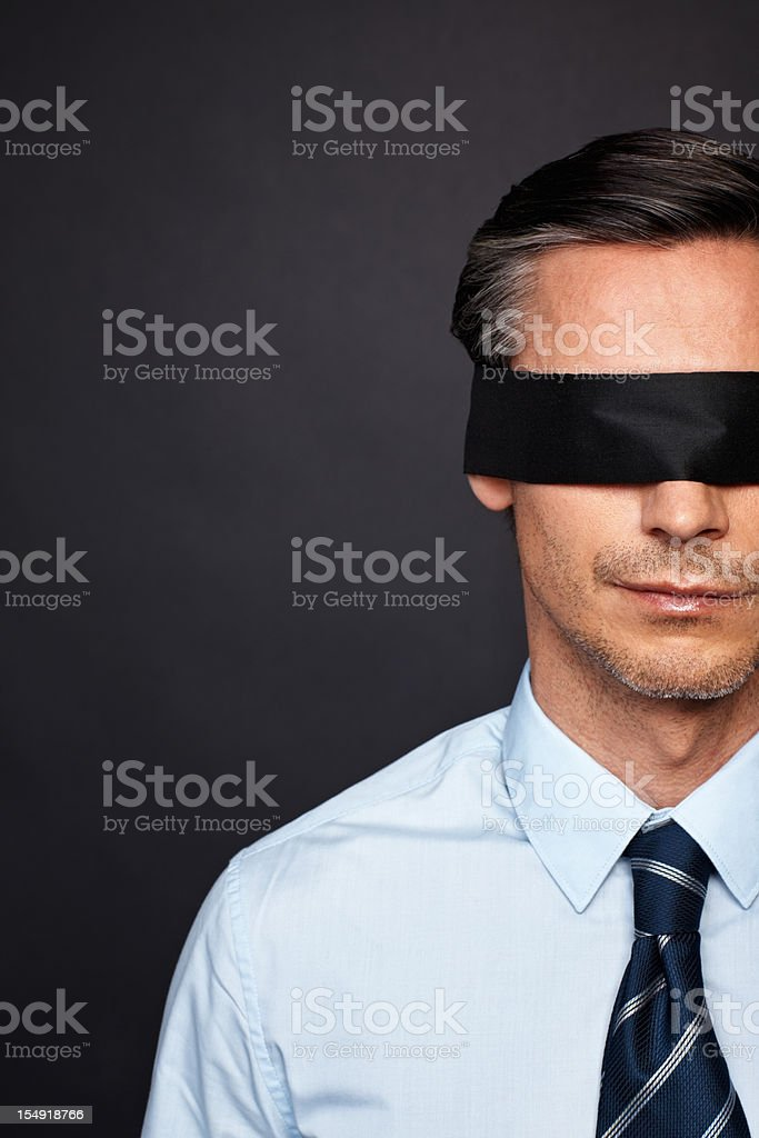 Executive with no vision royalty-free stock photo
