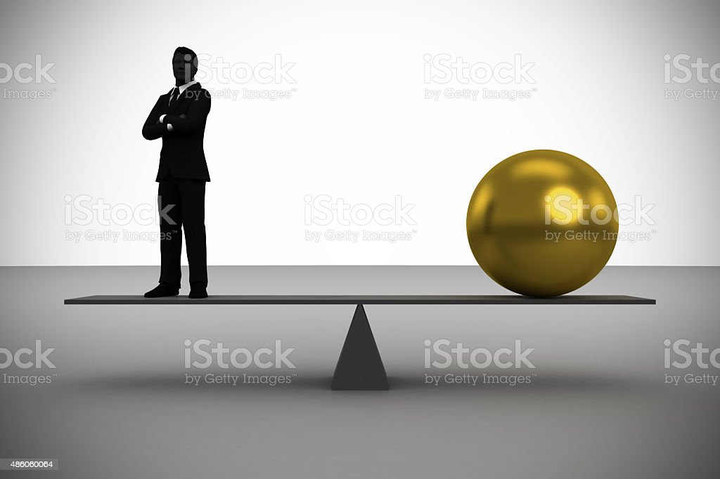 Executive worth weight in Gold stock photo