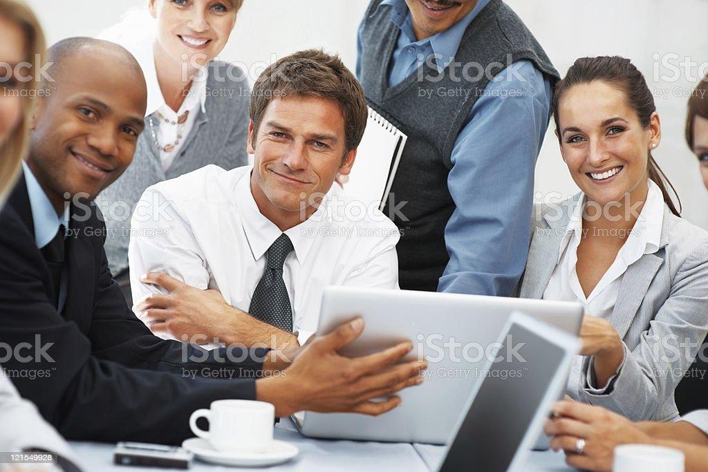 Executives at meeting royalty-free stock photo