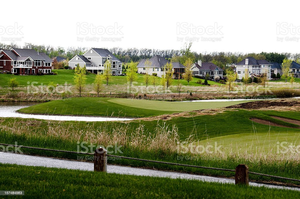 Executives Country Club Homes royalty-free stock photo
