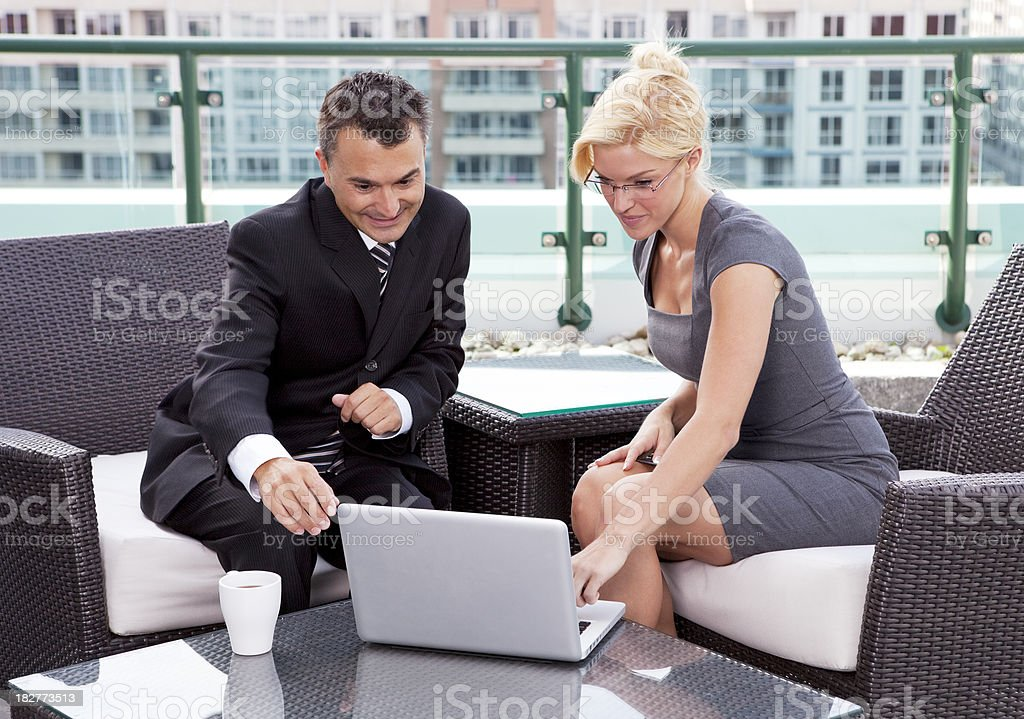 Executives Having A Meeting. royalty-free stock photo