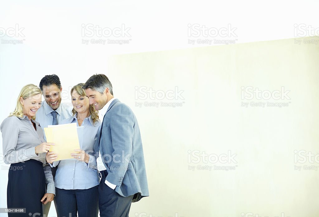 Executives in agreement of proposal royalty-free stock photo
