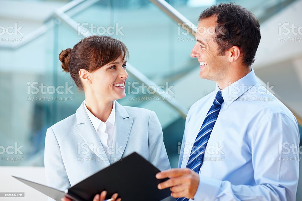 Executives in agreement royalty-free stock photo