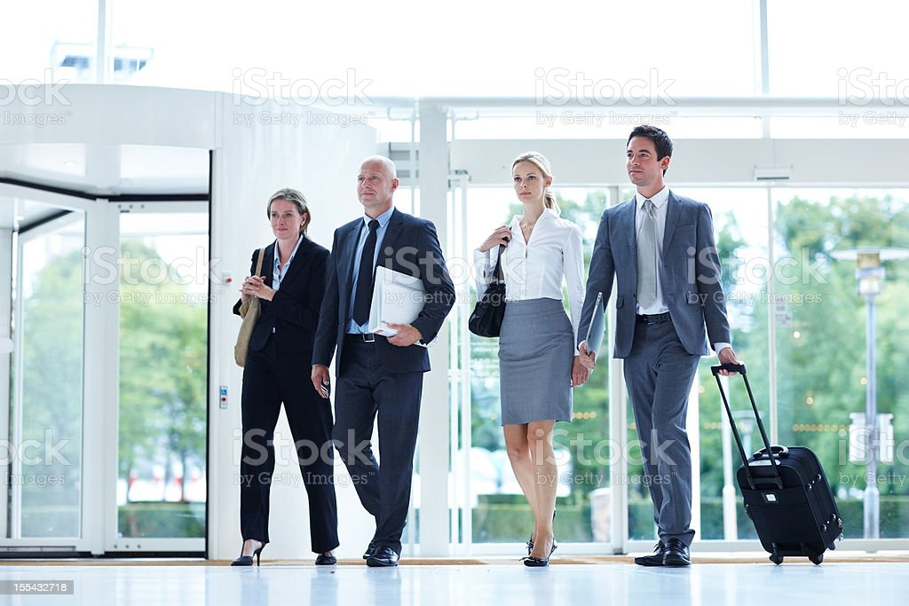 Executives with hectic schedules royalty-free stock photo