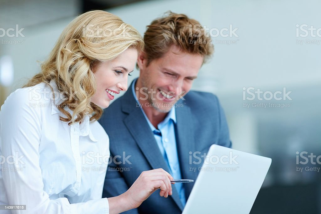 Executives with tablet PC royalty-free stock photo