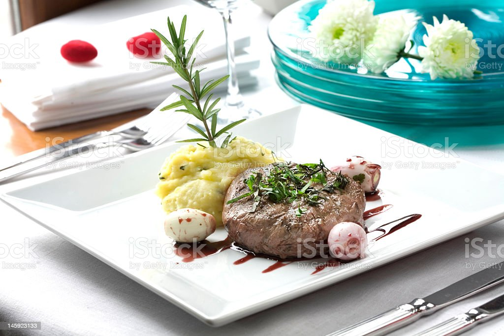 Exellent dinner royalty-free stock photo