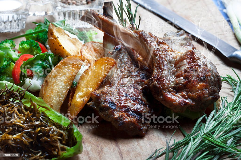 Exellent dinner stock photo
