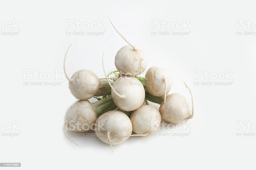 Exempted turnips royalty-free stock photo