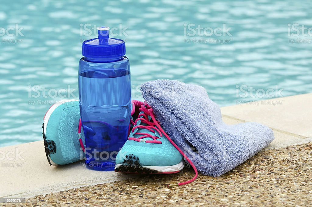 Exercise and hydration royalty-free stock photo