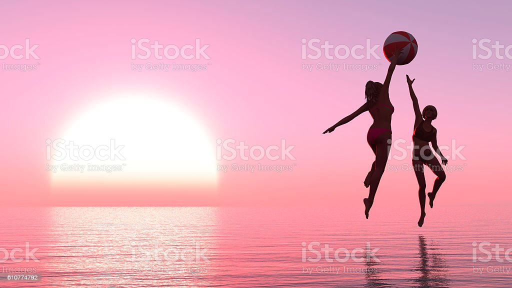 exercise and sunset stock photo