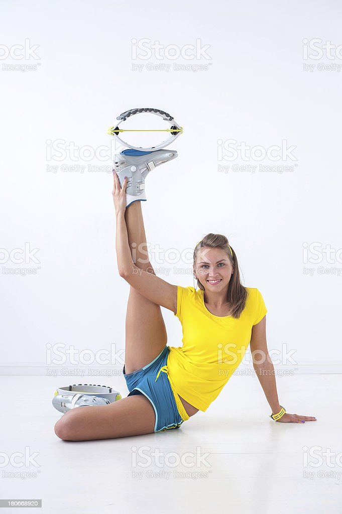 Kangoo jumps athlete royalty-free stock photo