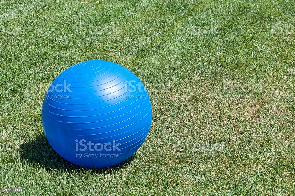 Exercise ball stock photo