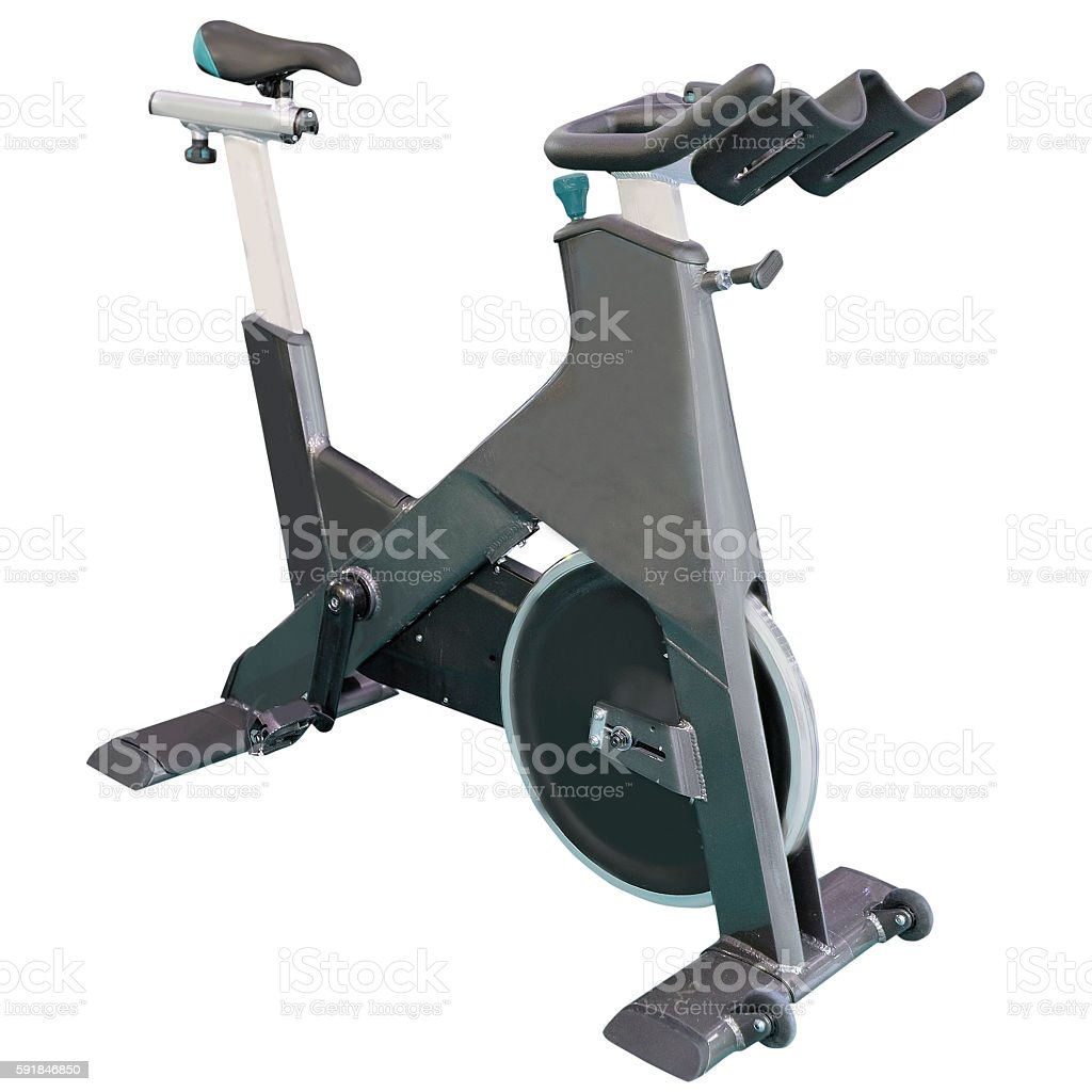 exercise bicycle stock photo