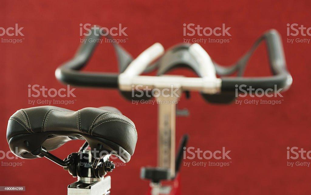 Exercise bike seat stock photo
