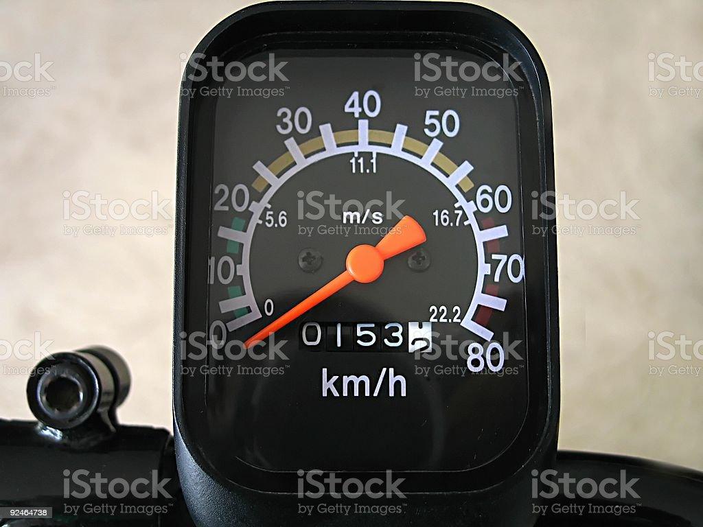 Exercise Bike Speedometer royalty-free stock photo
