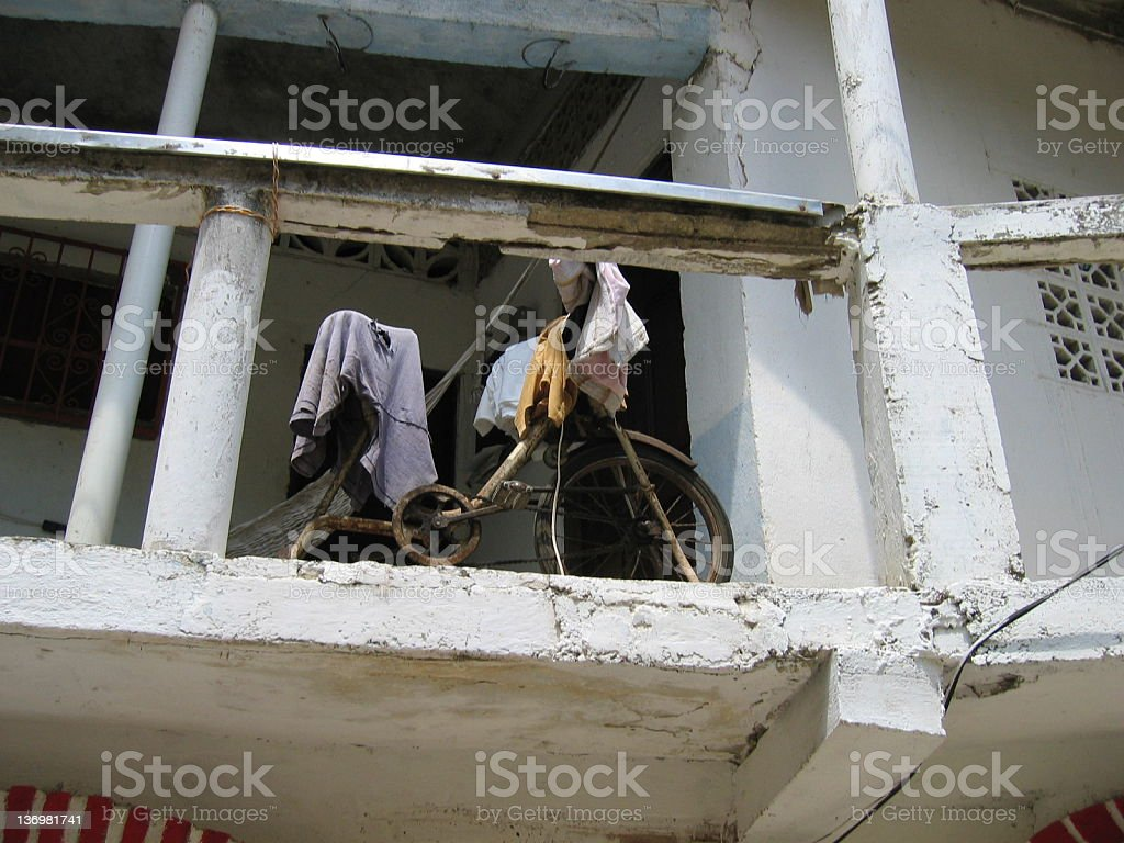 Exercise Bike/Clothes Dryer royalty-free stock photo
