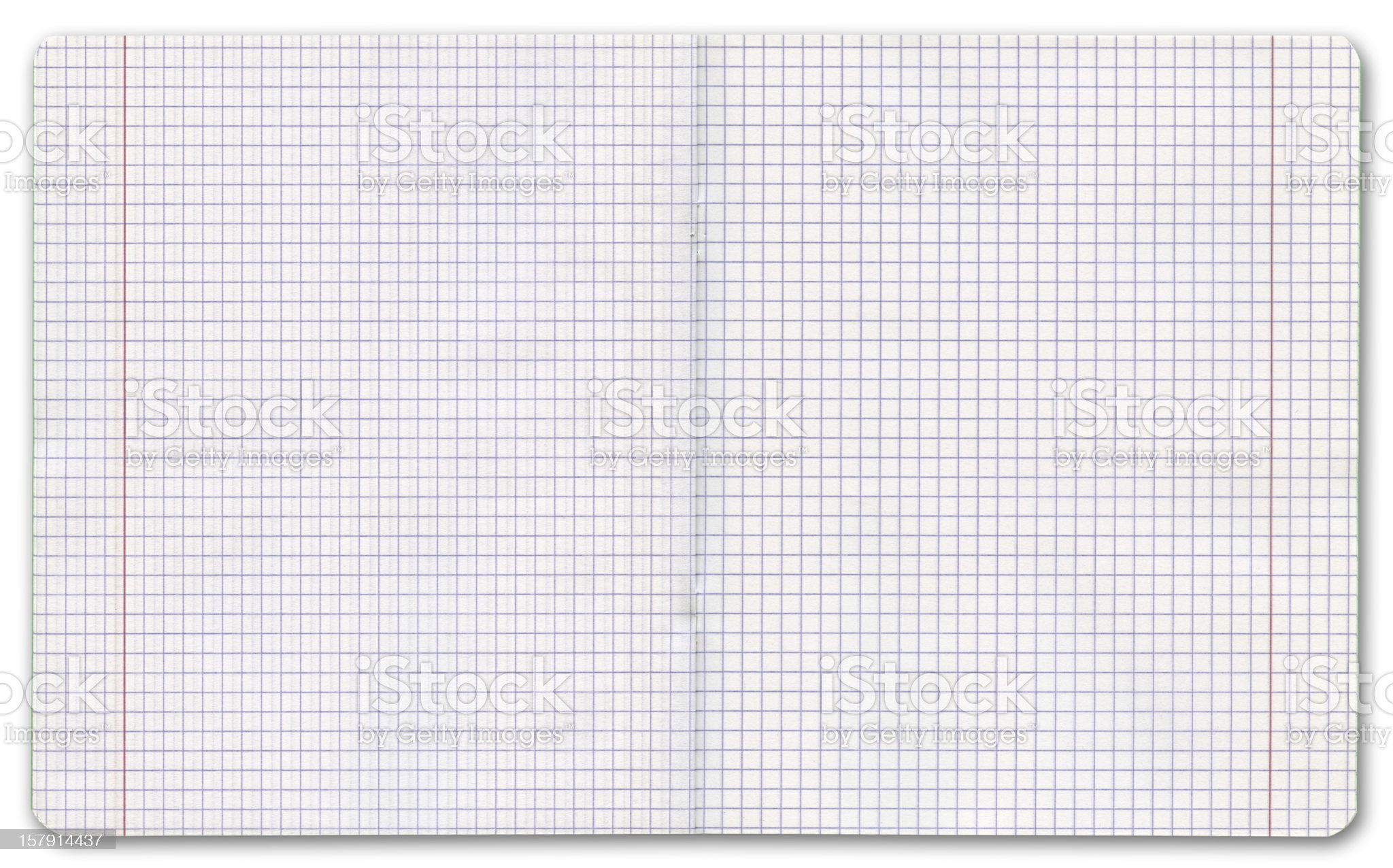 Exercise book on white background, clipping path royalty-free stock photo