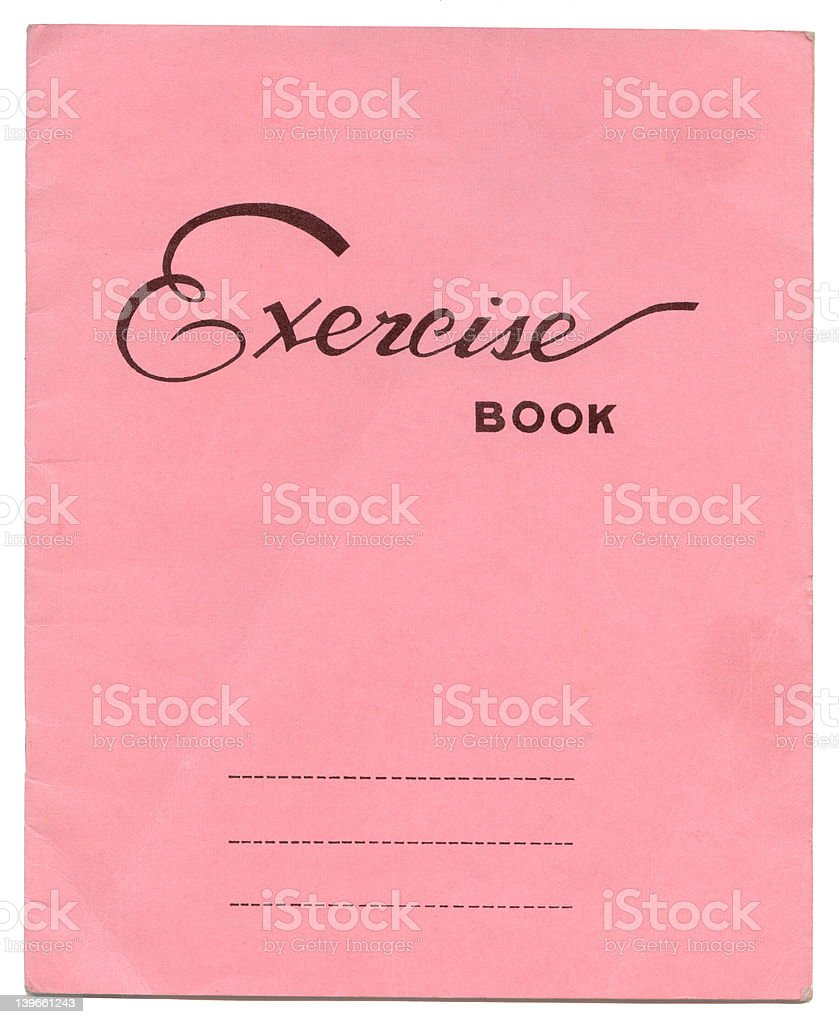 exercise book royalty-free stock photo