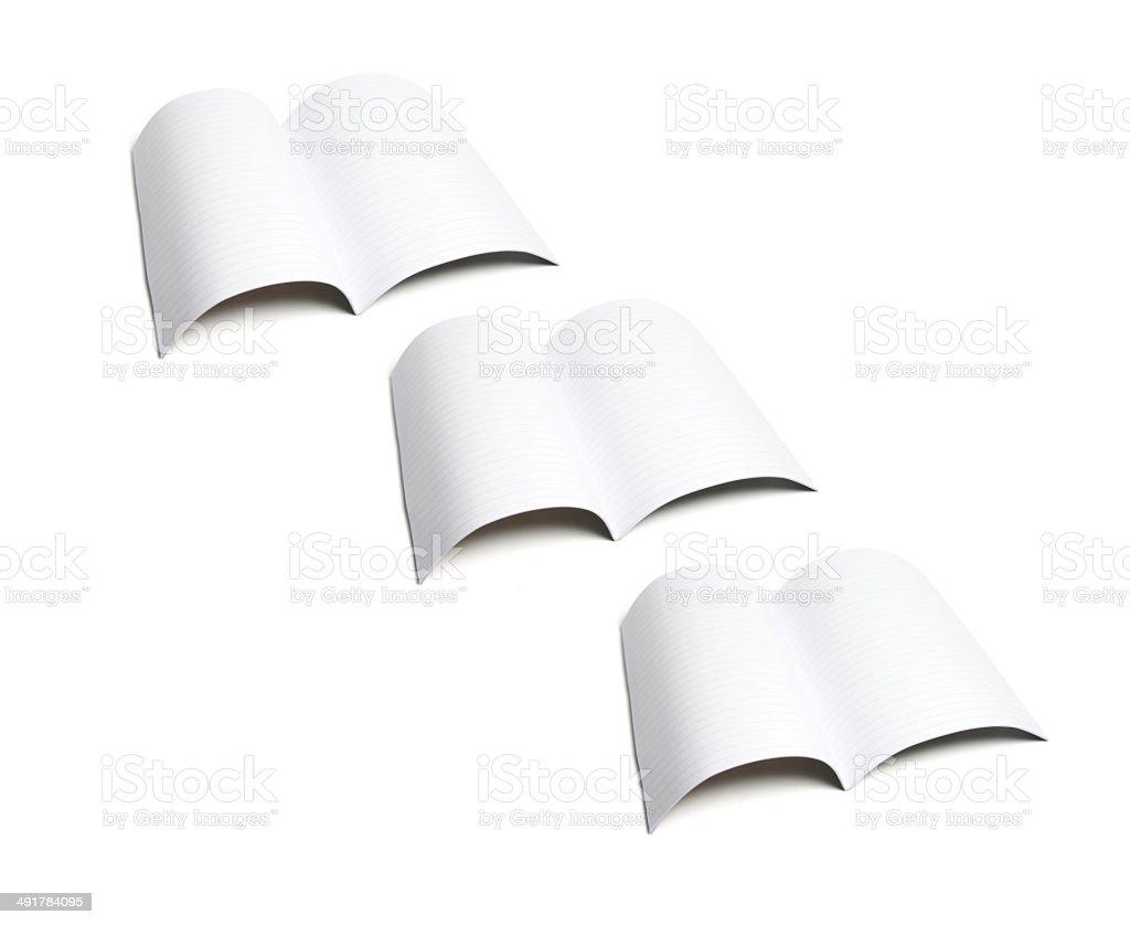 Exercise Books stock photo