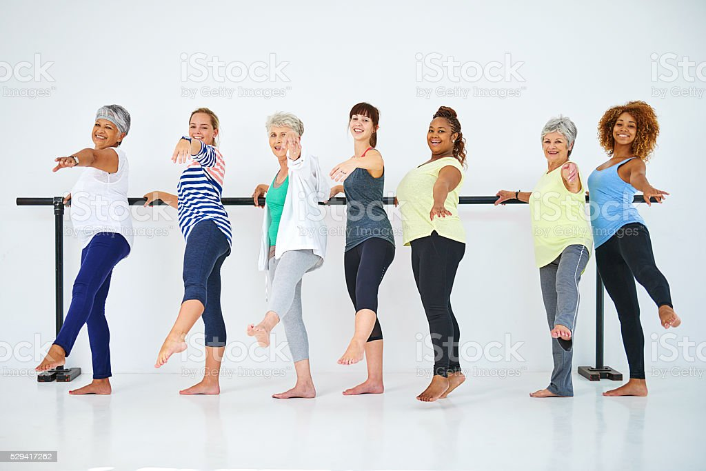 Exercise can be fun stock photo