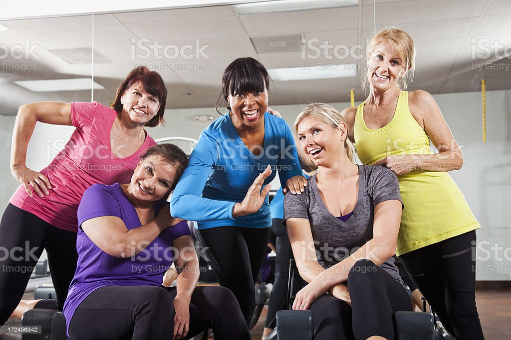 Exercise class royalty-free stock photo