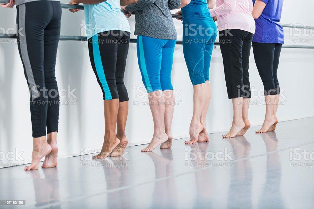 Exercise class stock photo
