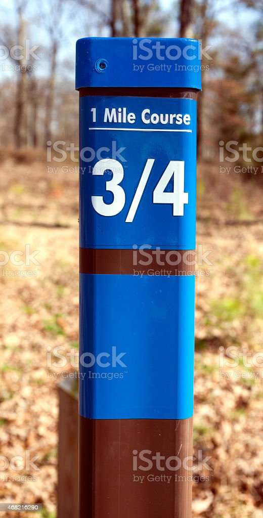 Exercise Distance Marker stock photo