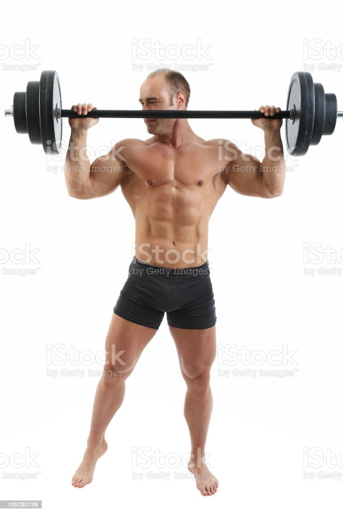 Exercise for shoulder royalty-free stock photo