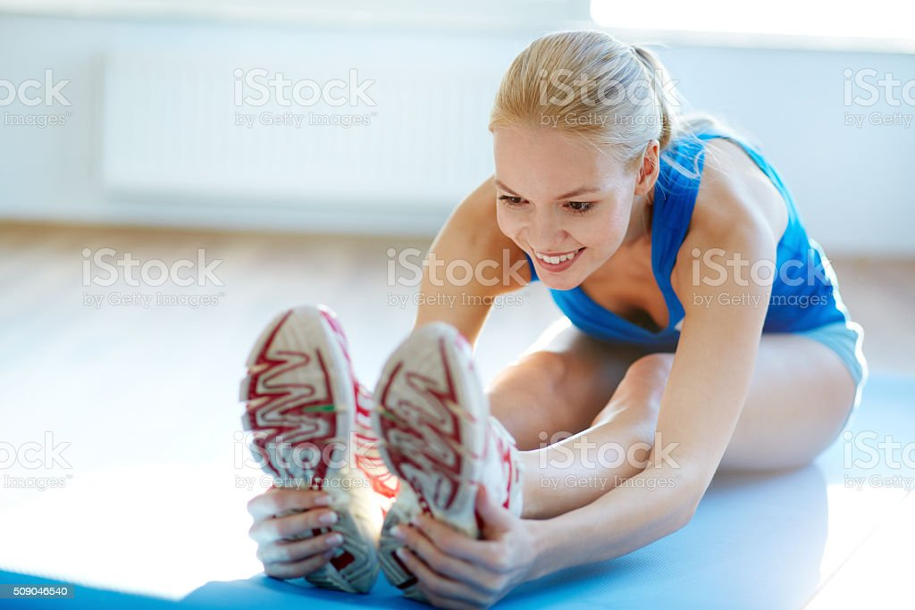 Exercise for stretching stock photo