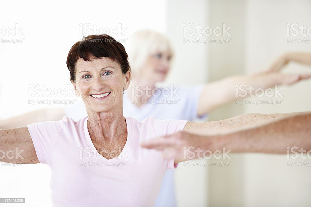 Exercise gives you energy royalty-free stock photo