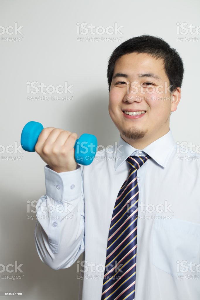 Exercise in the office stock photo