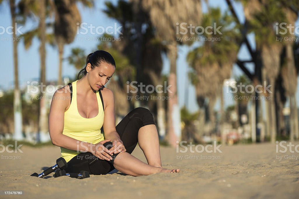 Exercise injuries royalty-free stock photo