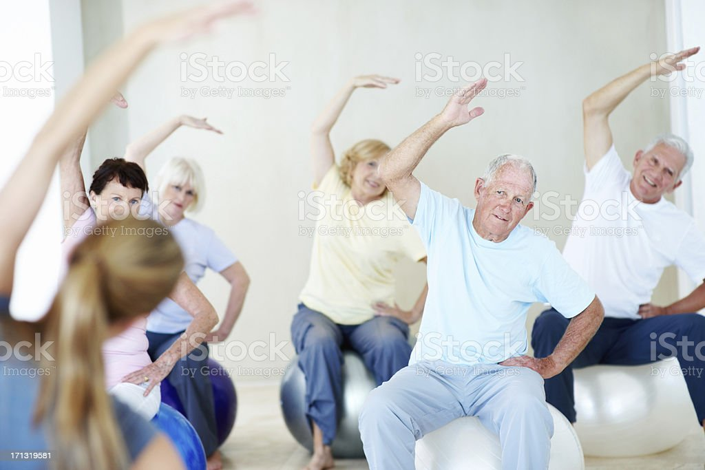 Exercise is good for the body and soul stock photo