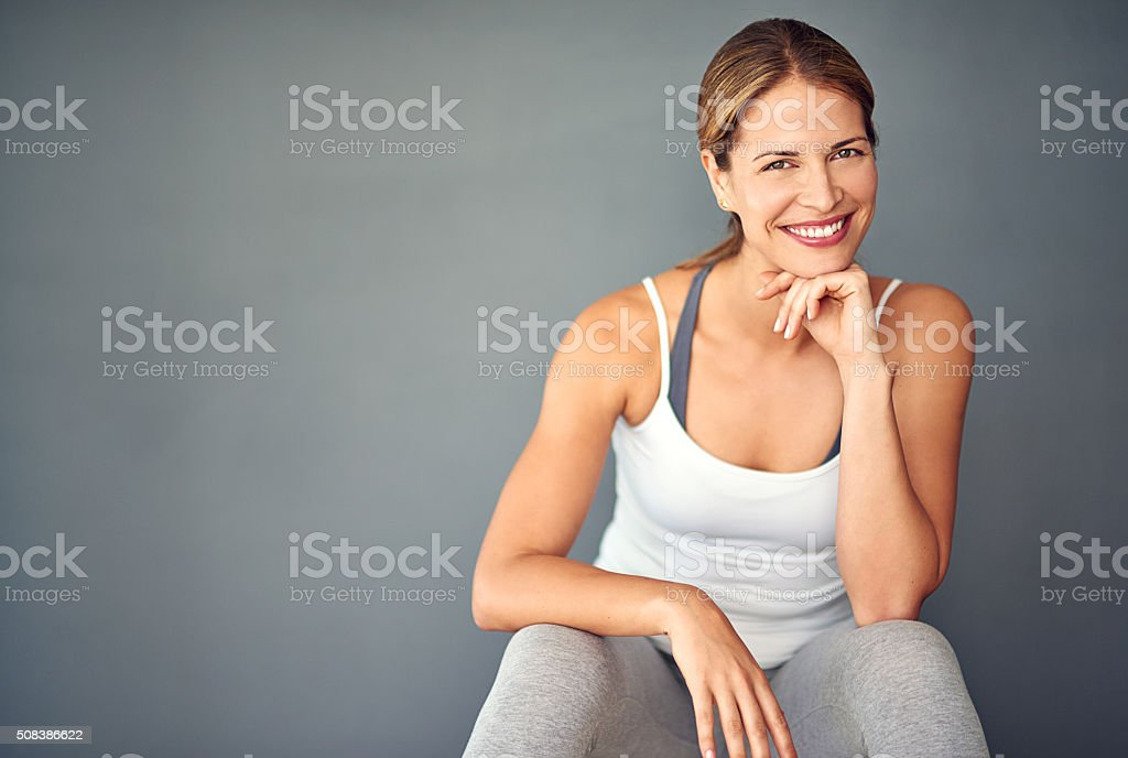 Exercise is number one on my to-do list stock photo