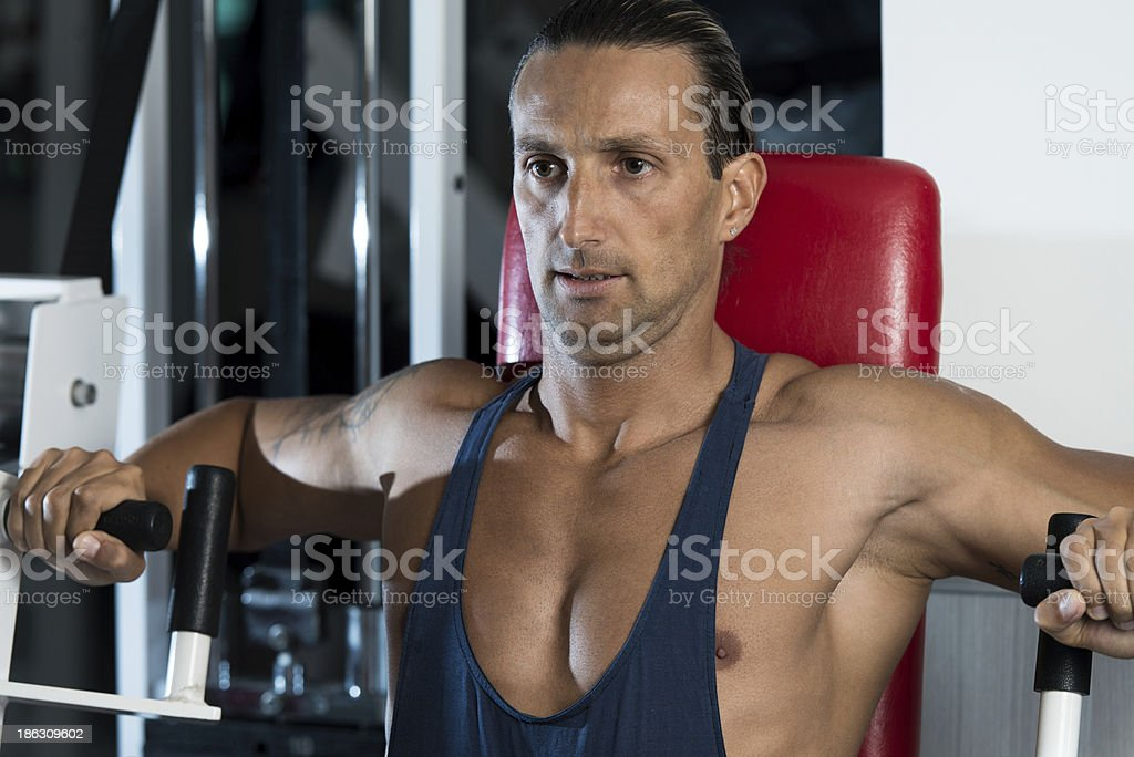 Exercise Machine For Chest royalty-free stock photo