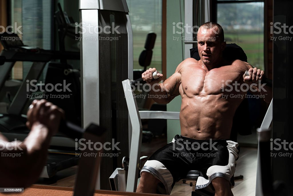 Exercise Machine For Chest stock photo