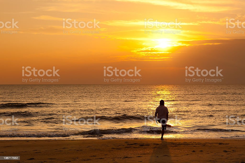 Exercise on the beach royalty-free stock photo